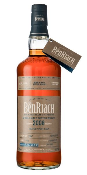 BenRiach Single Cask Batch 14, 9 Years Old (2008), Peated/Port Cask #2047