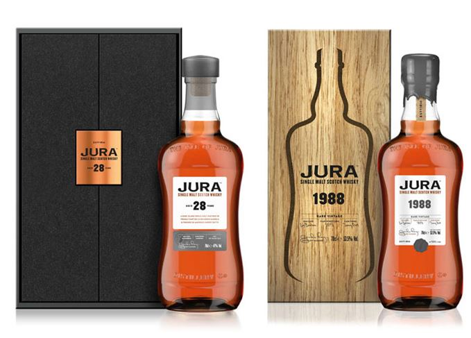 Jura 28 Year Old and Jura 1988