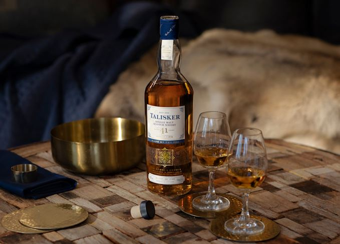 Talisker 41 Year Old 1978 Vintage Bodega Series with glasses
