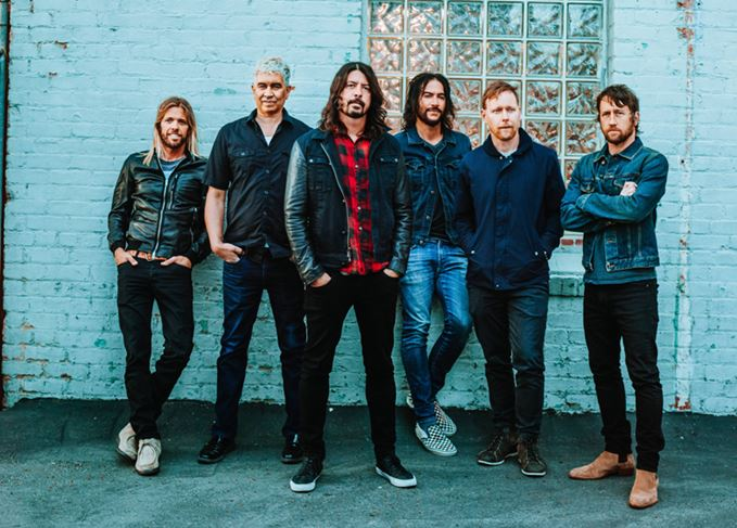 Foo Fighters band fronted by Dave Grohl