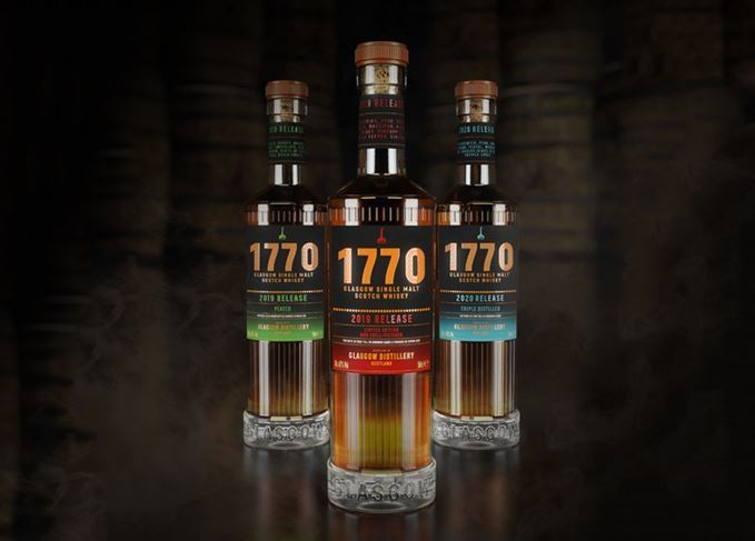 Glasgow distillery's 1770 Signature Range includes single malt, peated malt and triple-distilled malt