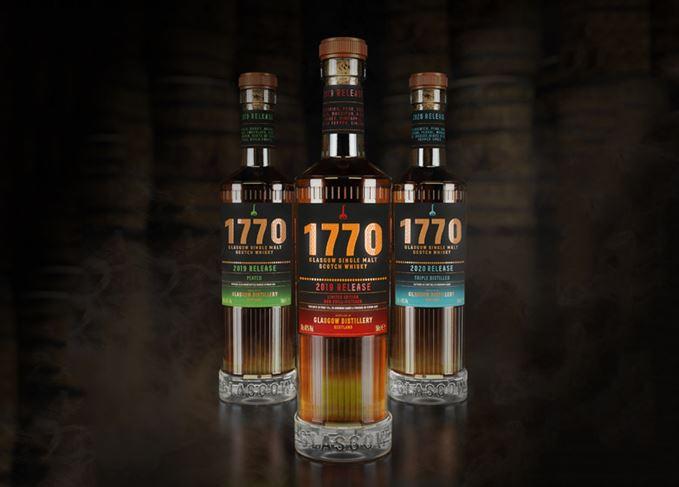 Glasgow distillery's 1770 Signature Range includes single malt, peated malt and triple-distilled malt