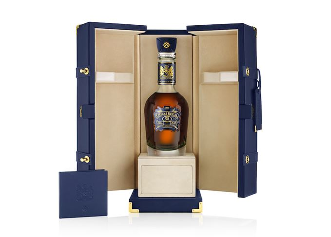 Chivas Regal The Icon bottle and case
