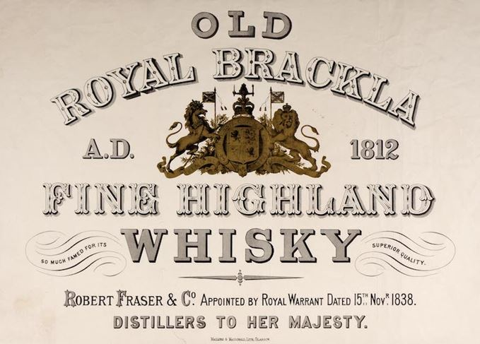 Royal Brackla advert 19th century