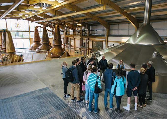 Visitors at The Glenlivet distillery