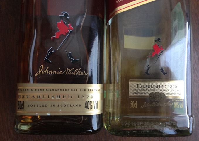 Fake Johnnie Walker
